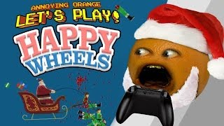 getlinkyoutube.com-Annoying Orange Let's Play Happy Wheels: Jingle Bell SPLAT!