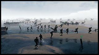 getlinkyoutube.com-Realistic Omaha Beach Scenario - Normandy Landings on D-Day | Men of War Assault Squad 2 Gameplay