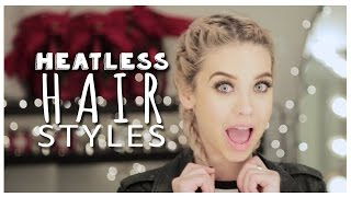 getlinkyoutube.com-Cute Lazy Day Hairstyles! (Heatless!)