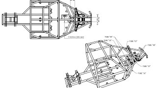 BadLandBuggy ST4 Plans/Drawings - PT 2. Drawing MidFrame / Structural Member function