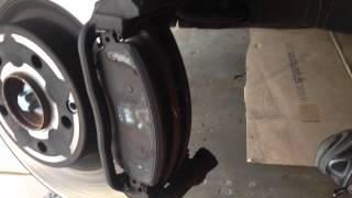 Mercedes GLK front brake, disc & pads replacement.