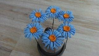 getlinkyoutube.com-Цветок из фоамирана.(Шпильки для волос)Мастер класс.