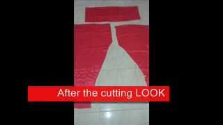 getlinkyoutube.com-Chudidar Pant cutting easy method