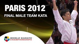 (2/2) Karate Japan Vs Italy. Final Male Team Kata. WKF World Karate Championships 2012