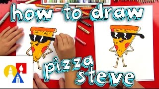 getlinkyoutube.com-How To Draw Pizza Steve