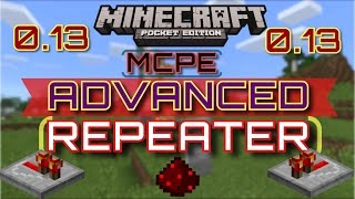 getlinkyoutube.com-✔️{MCPE 0.13} HOW TO BUILD ADVANCED REDSTONE REPEATERS | How to get more delay in your repeater!