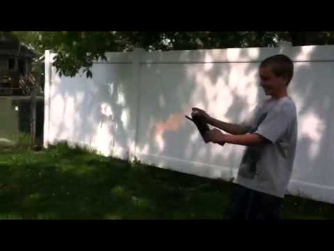 Bottle rocket blow up