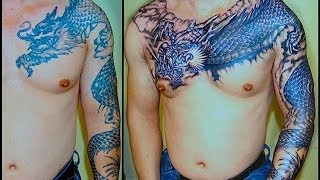 getlinkyoutube.com-DRAGON TATTOO ( REDO AND ADD ON)