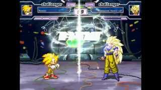 getlinkyoutube.com-Super Sonic Vs. Super Saiyan 3 Goku rematch