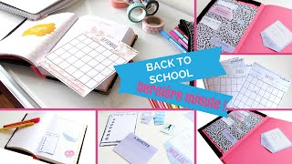 II BACK TO SCHOOL II Dernière minute pour customiser son agenda !