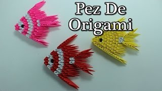 getlinkyoutube.com-3D Origami Fish / Pez Origami 3D ¡TUTORIAL!
