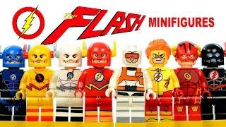getlinkyoutube.com-The Flash DC Superheroes CW TV series LEGO KnockOff Minifigures w/ Reverse-Flash Set 2