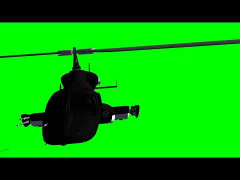 Airwolf Helicopter - green screen effects