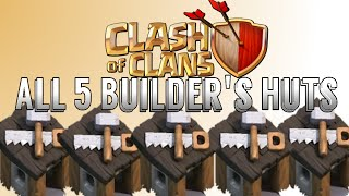 getlinkyoutube.com-How To Get All 5 Builder's Huts Free In Clash of Clans!