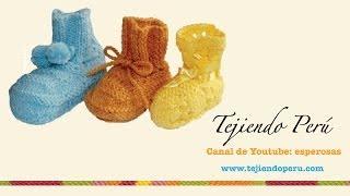 getlinkyoutube.com-Dos agujas:  cómo tejer zapatitos básicos para bebés (Parte1)