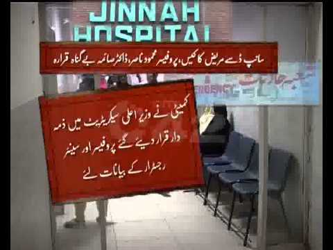 Jinnah Hospital Snake Bite Patient Death Inquiry Report Pkg City42