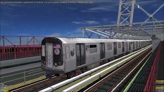 getlinkyoutube.com-OpenBVE HD: Chasing NYC Subway R179 J Skip-Stop Express Train (Jamaica Center to Broad Street)