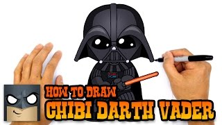 getlinkyoutube.com-How to Draw Darth Vader (Chibi)- Step by Step Art Lesson