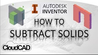 How to subtract solids, using sculpt | Autodesk Inventor