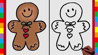 getlinkyoutube.com-Especial Navidad nº 5: Como Dibujar una Galleta o Dulce Navideño (Dibujar y Crear)