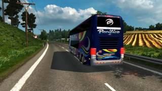 getlinkyoutube.com-Euro Truck Simulator 2 Bus trip to Katowice with Comil Campione 6x2