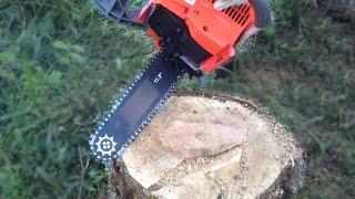 getlinkyoutube.com-เลื่อยยนต์เล็ก(ไม่ต้องจดทะเบียน)ตัดไม้ใหญ่ mini chainsaw