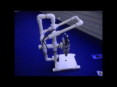 Furadeira de bancada caseira de PVC para microretifica
