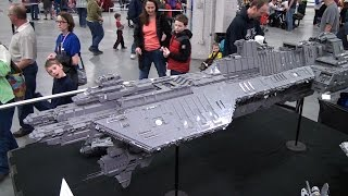 getlinkyoutube.com-Huge LEGO Halo Spirit of Fire spaceship - Brickworld Indy 2015