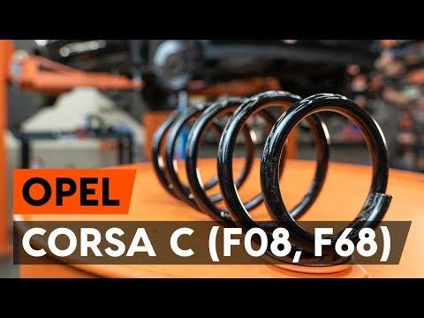 Как заменить пружину передней стойки амортизатора OPEL CORSA C (F08, F68) (ВИДЕОУРОК AUTODOC)