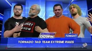 WWE 2K16 Psycho Dad,McjuggerNuggets VS Angry Grandpa,KidBehindaCamera Extreme Rules Tag Match