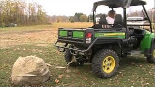 getlinkyoutube.com-John Deere Gator 825I pulling pet rock