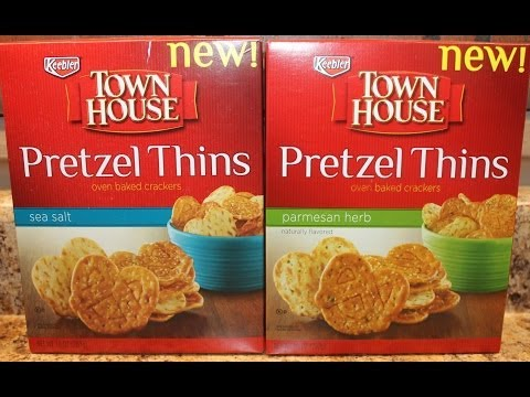 Town House: Pretzel Thins Sea Salt & Parmesan Herb Review