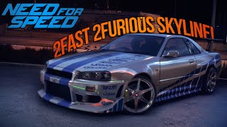 getlinkyoutube.com-Need for Speed 2015 Paul Walkers 2 Fast 2 Furious R34 Skyline! (NFS Showcase)