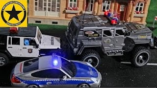 getlinkyoutube.com-BRUDER Toys JEEP POLICE Post office ROBBERY in Jack's bworld RC S.W.A.T. Team
