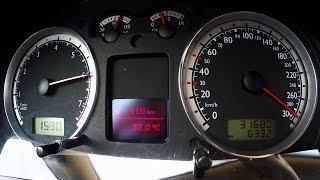 getlinkyoutube.com-VW Bora VR6 0-290 Acceleration Onboard Autobahn Sound Revs Volkswagen Drive Turbo Gockel