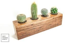 getlinkyoutube.com-Cactus Planter // Vaso para Catos