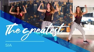 getlinkyoutube.com-The Greatest - Sia - Easy Fitness Dance Choreography Zumba