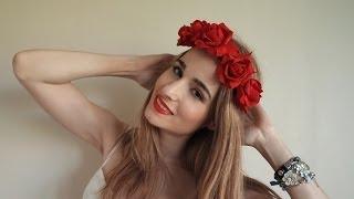getlinkyoutube.com-DIY: corona de flores elástica (petición)