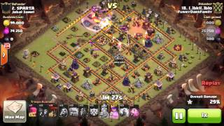 getlinkyoutube.com-TH10 3star Attack Golavaloon+The Power of Ligthing by BK