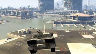 getlinkyoutube.com-ボツ【GTA5】輸送ヘリに戦車を吊るした状態で砲弾を.......!!