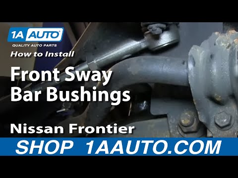 How To Install Replace Front Sway Bar Bushings 1998-04 Nissan Frontier and Xterra