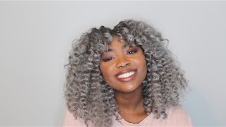 Download video: SILVER/GRAY CROCHET BRAIDS on Nicola Done by Edwige ...