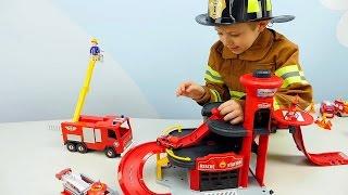 🚒 Пожарные Машинки 🚒 Все серии подряд. Пожарная часть Лего и Пожарный Даник. Видео для детей