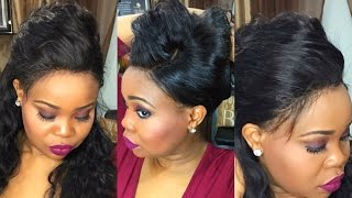 How to make a 360 Wig with cap and Customize Lace No Bleach Flawless Fit Luv Me Hair