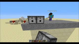 getlinkyoutube.com-MineCraft Redstone Devreleri (Bölüm 2) Seri Fırlatıcı
