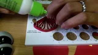 getlinkyoutube.com-Daisy Quilling Flower and Quilling Board Guide