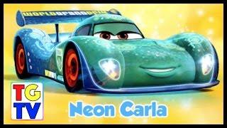 Cars: Fast as Lightning NEON RACING! Neon Carla vs Lightning McQueen, Mater