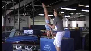 getlinkyoutube.com-5 year old Kaylee Level 4 Artisitic Gymnastics/ Gymnast Training round off with 4 backhandsprings