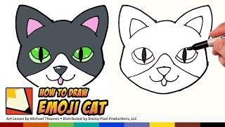 getlinkyoutube.com-How to Draw a Cute Cat Emoji for Beginners Step by Step