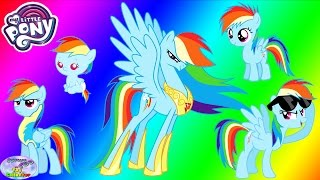 getlinkyoutube.com-My Little Pony Transforms Rainbow Dash Baby Princess Coloring Surprise Egg and Toy Collector SETC